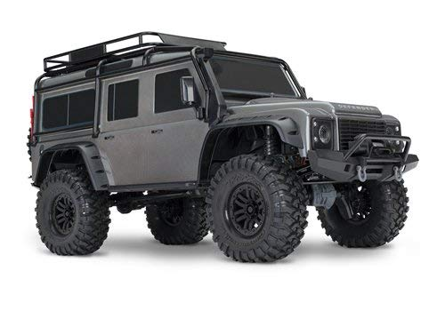 Traxxas 1/10 Scale TRX-4 Scale and Trail Crawler with 2.4GHz TQi Radio, Silver (Trail 6x6 Rc Truck)