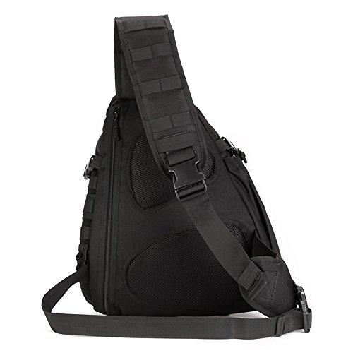 Fozela Molle Umhängetasche Militär Kamera Tasche Umhängetasche Sling Rucksack Handtasche Schultertasche für Sports Camping Wandern Trekking Black pJ3Jsbr