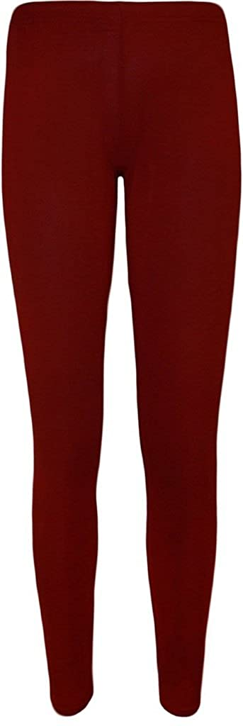 5a760115959a Womens New Plain Stretch Ladies Full Long Length Skinny Elasticated Waist  Trousers Pants Leggings at Amazon Women s Clothing store