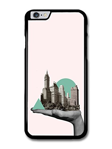 City in a Hand Photo Collage with Cool Hipster Shapes case for iPhone 6 Plus 6S Plus