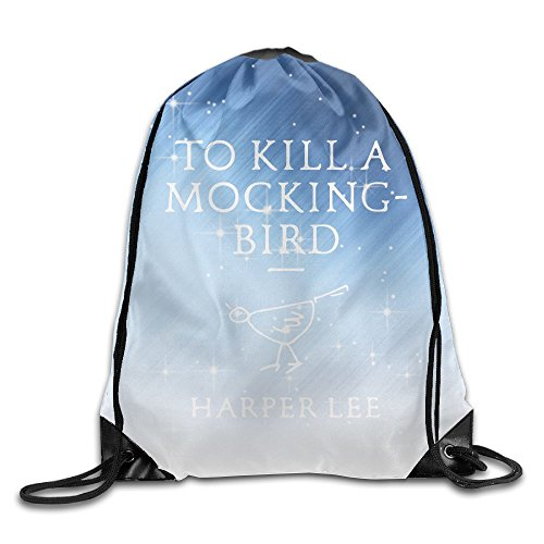 ZhiqianDF To Kill A Mockingbird Drawstring Bags Baseball Backpack For Teens - Mockingbird Station