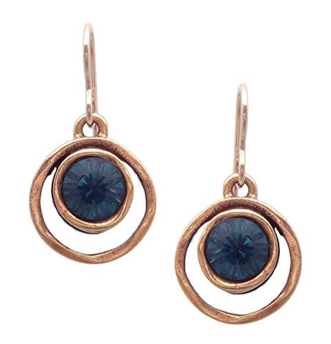Patricia Locke Ciel Bleu Skeeball Swarovski Crystal Goldtone Hook Earrings ()