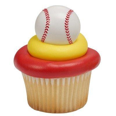 3D Baseball Cupcake Rings (Baseball Cupcake)