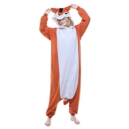 [Newcosplay Adult Anime Unisex Squirrel Pyjamas Halloween Costume (S)] (Squirrel Halloween Costume)