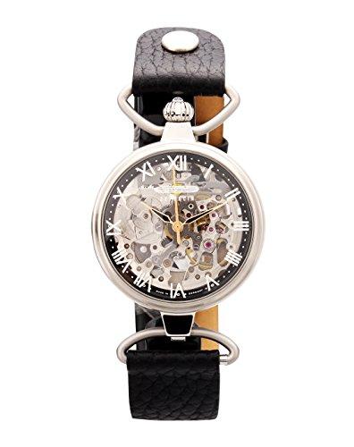 Zeppelin Ladies Watch Princess Automatic Skeleton Watch Silver 7457-2