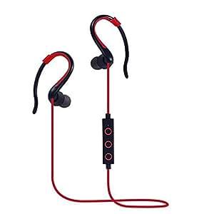 Smart&Close V4.1 Bluetooth Mini Lightweight Wireless Stereo Sports Headphon-Red