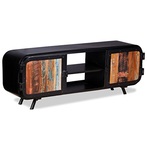 vidaXL TV Cabinet Reclaimed Wood Stand Entertainment Center Unit Sideboard (Sheesham Wood Pedestals)