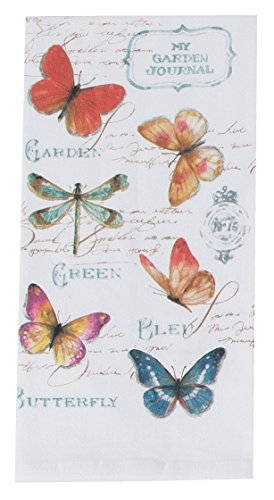 (Kay Dee Designs My Journal Butterfly Garden Krinkle Flour Sack Towel)