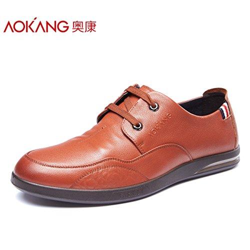 Aemember autunno uomini di affari Business scarpe scarpe uomo Design Anti-Wrinkle ,42, marrone