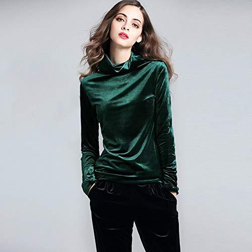 Camicia Da Collo Tinta Unita Verdexxl Manica Velluto Alto Slim In Donna Hermosauknight Lunga Nvwm8n0O