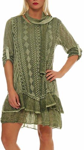 Mujer Rebecca 6283 Chaqueta Chaleco Con Oversized Vestido Malito Verde Talla Irregular Bolero Cárdigan Ùnica Casual Claro Poncho Súeter Capa Chal xXYZ6x0wnq