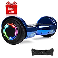 Specifications Hoverboard Wheels:6.5 inches Net Weight:7.5KG Charging Time:2-4h Maximum Weight:265lbs Minimum Weight:45lbs Maximum Speed Limit:10 km/h Range: 15-20KM Max Climbing Limit: 10° Turning Radius:0° Power Requirement: AC 100-240V/50-...