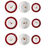 Brandani 53011Alleluia 18PC servizio di piatti in porcellana, multicolore