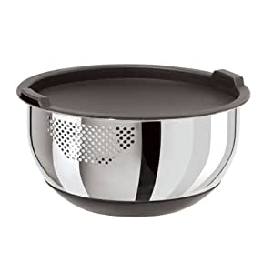 Oggi 7288.0 Stainless Steel Strainer Bowl with Lid, 5-Quart