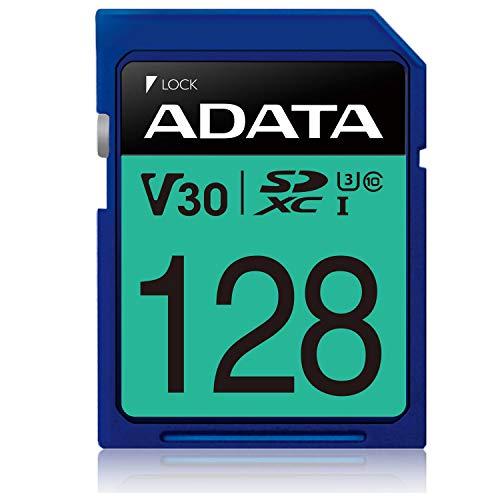 ADATA Premier Pro 128GB SDXC UHS-I Class 10 (U3) Memory Card, V30 Video Speed Class]()