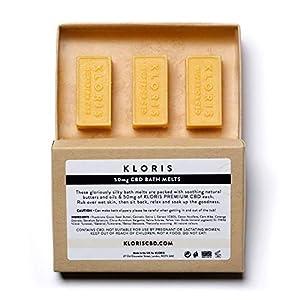 KLORIS 50mg CBD Bath Melts, Ylang Ylang scented, 3...