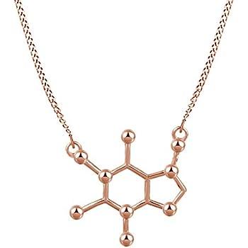 Amazon Caffeine Molecule Structure Necklace Chemistry Necklace