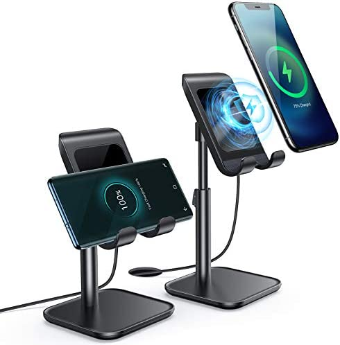 iPhone Wireless Charger, [Angle&Height Adjustable] LISEN Cell Phone Wireless Charging Stand, 10/7.5W Fast Wireless Charger for iPhone 12/11/Pro/Max/X/XR/XS Max, Galaxy Samsung S20/S10/S9/S8