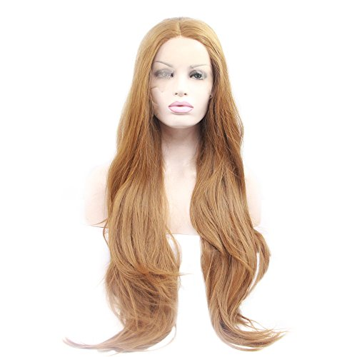 Wig Extra Long Ginger Blonde Synthetic Lace Front