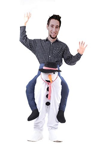 SurpCos Funny Piggyback Ride on Riding Shoulder Costumes Adult (Piggyback Costume Snowman)