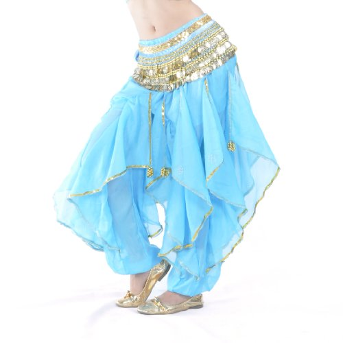 BellyLady Belly Dance Harem Pants Tribal Baggy Arabic Halloween Pants LAKEBLUE