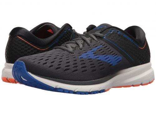 Brooks(ブルックス) メンズ 男性用 シューズ 靴 スニーカー 運動靴 Ravenna 9 - Ebony/Blue/Orange [並行輸入品] B07BM98SJH 9.5 EE - Wide