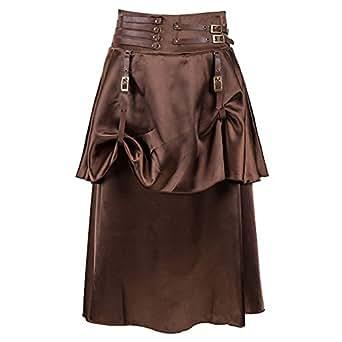 ac8ceb14cc ZAMME Faldas de Steampunk góticas vintage de las mujeres para el corsé que  empareja  Amazon.es  Ropa y accesorios