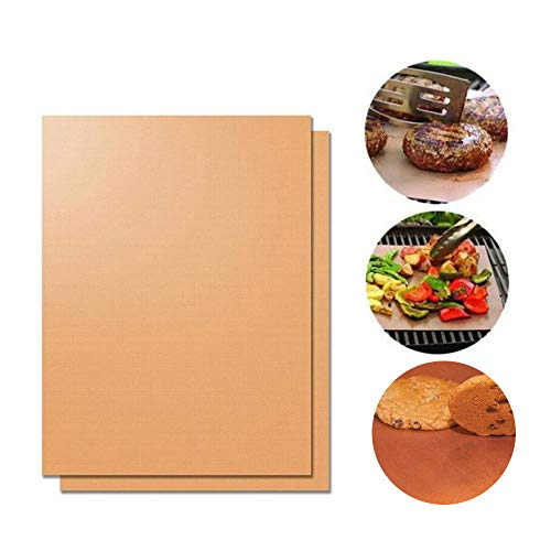 Buy Kebley Set of 2-15.75 x 23.5 Inch Large BBQ Grill Mats Baking Mats, Non-Stick, Easy To Clean,R...