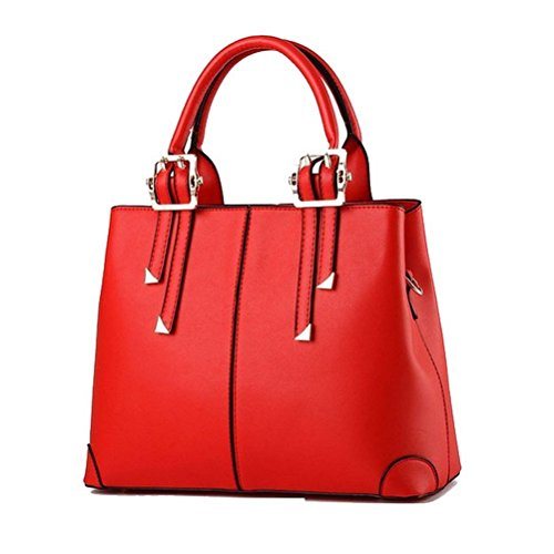 Modern Fashion Faux Fur Woman Crossed Top-handle Bag Ladied Bags - Red