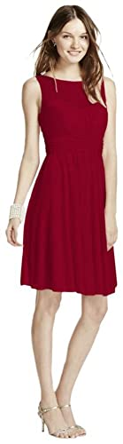 Short Mesh Bridesmaid Dress with Sweetheart Illusion Neckline Style F15701