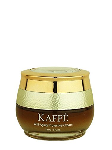 Kaffé 100% All Natural Anti Aging Protective Cream Infused with 100% Organic Kona Coffee for Body, Skin Nourishment, Cleansing, Acne Relief (Protective Cream Aging Anti Body)