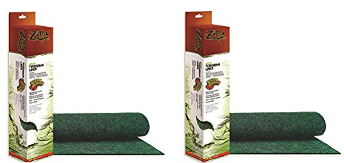 - (2 Pack) Zilla Terrarium Liner, 125G, Green (17.25 x 71 Inches)