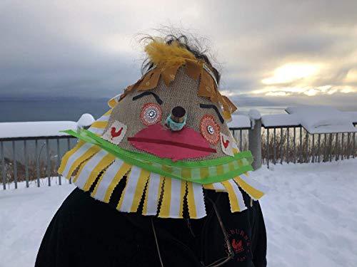 Cajun Fringe Costume, Courir de Mardi Gras Mask, traditional Mardi Gras costume, Handmade Creepy Burlap Adult Halloween, carnival, masquerade mask ()
