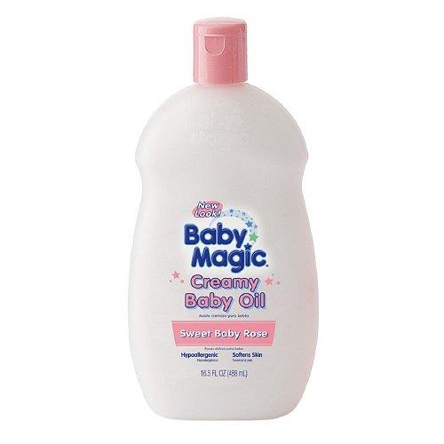 Baby Magic Creamy Baby Oil, Sweet Baby Rose-16.5 fl oz (488 ml) by Baby Magic