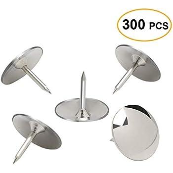 amazon com bazic silver thumb tacks 200 push pins for crafts and