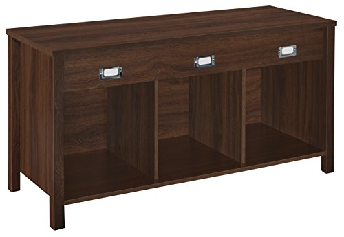 2 Drawer Cherry Bench - ClosetMaid 16051 Premium 3-Cube Bench, Dark Chestnut