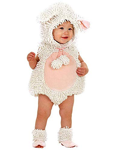 Princess Paradise Baby Girls' Premium Laura The Lamb, White/Pink, 12-18 Months