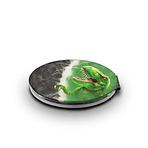 ZORITO Makeup Mirror Rex Green Tie-Dye Double-Sided Portable Folding Mirror Stainless Steel Shatterproof
