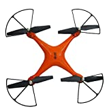 Gbell Drone with Camera WIFI FPV for Kids Adults - X10 2.4Ghz Quadcopter Headless Mode Altitude Hold RC Drone,Birthday Christmas New Year Gifts,Orange White (Orange)