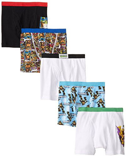 Nickelodeon Little Boys' Teenage Mutant Ninja Turtles 5pk Boxer Brief, Assorted, 6