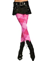 Music Legs Womens Argyle Tights / Pantyhose