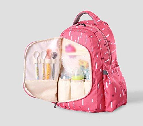 HJXJXJX Los pañales del bebé cambian los bolsos, multi-función impermeabilizan la bolsa de hombro de gran capacidad multicolor opcional empaqueta de la momia de la manera , Pink Pink