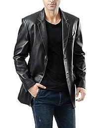 Leather Hubb Black Heather New Zealand Lambskin Men's Leather Blazer /Jacket/ Trench