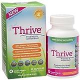 Just Thrive High Potency Probiotic & Antioxidant Supplement, 30 Capsules :: 4 Strains: Bacillus Indicus, Coagulans, Clausii, Subtilis :: Digestive & Immune Support :: Vegan :: GMO & Gluten Free