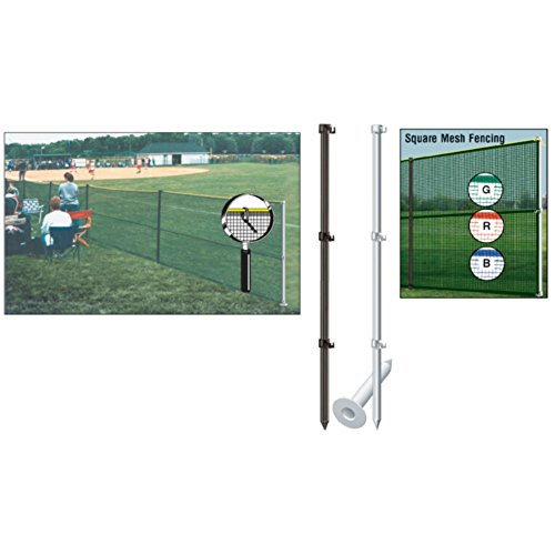 Portable Outfield Fencing - TACVPI Baseball Outfield Fencing Package with Smart Pole Set Mesh Sockets - Blue