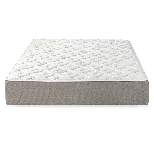 Serenia Sleep 12' Quilted Sculpted Gel Memory Foam Mattress, Queen, White/Off-White/Brown