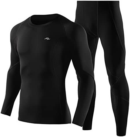 Base Layer Leggings Set Zoilmxmen Mens Compression Sports Suit Crew Long Sleeve Thermal Baselayer Top