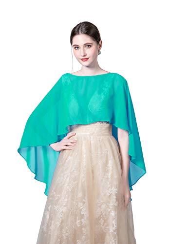 Wedding Capes Womens Soft Chiffon Shrug Bridal Long Shawl and Wraps (Color13)
