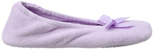 Isotoner Lil Chaussons Bas Slippers Terry Ladies Femme Violet Lilas Ballerina Lilac rqwxSvr6