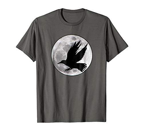 Full Moon And Raven Inspirational T-Shirt For Nature Lovers